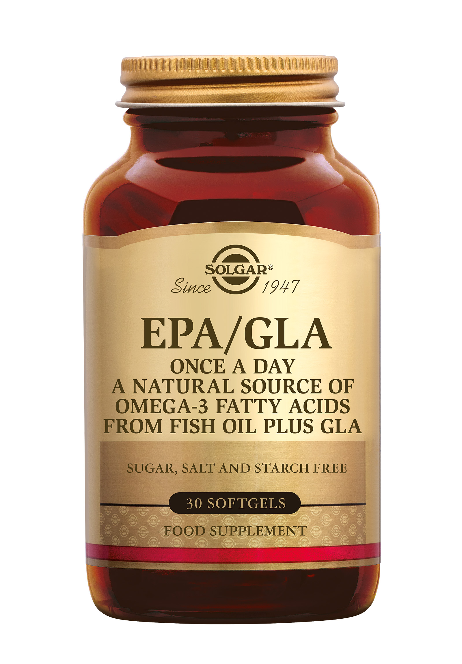 One-a-Day EPA/GLA, Solgar, Solgar One-a-Day EPA/GLA heeft een gunstige invloed op het hart. EPA en DHA zijn belangrijke bouwstenen voor de hersenen, spelen een rol bij het functioneren van hersenen en zijn goed voor het gezichtsvermogen. Dit beoogde effect kan bereikt worden bij ee