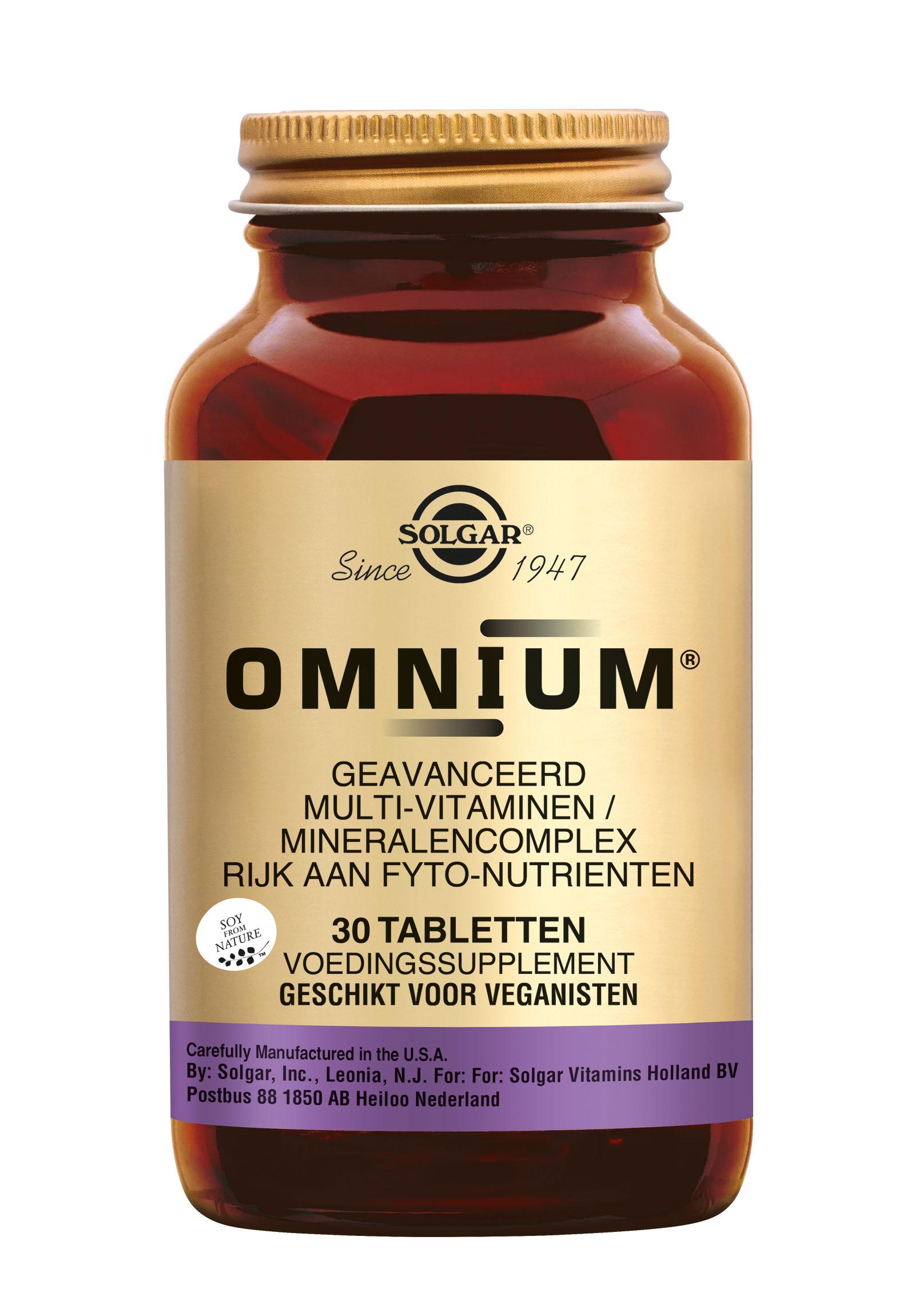 Omnium�, Solgar, Nu met gratis 2 pakjes Pukka thee naar keuze ter waarde van 7,98.
