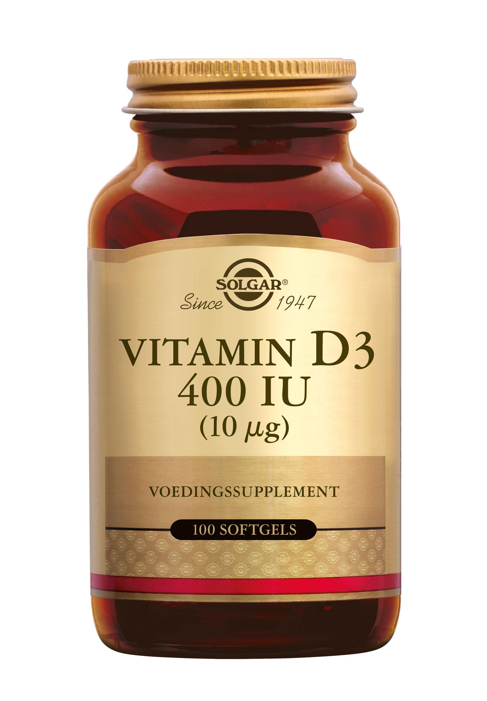 Vitamin D-3 10 �g/400 IU, Solgar, Solgar Vitamin D-3 10 �g/400 IU bevat de meest effectieve vorm van vitamine D. Vitamine D verhoogt de opname van calcium in de botten. Vitamine D heeft een positieve invloed op het immuunsysteem. Extra vitamine D wordt gebruikt ter aanvulling van de voedi
