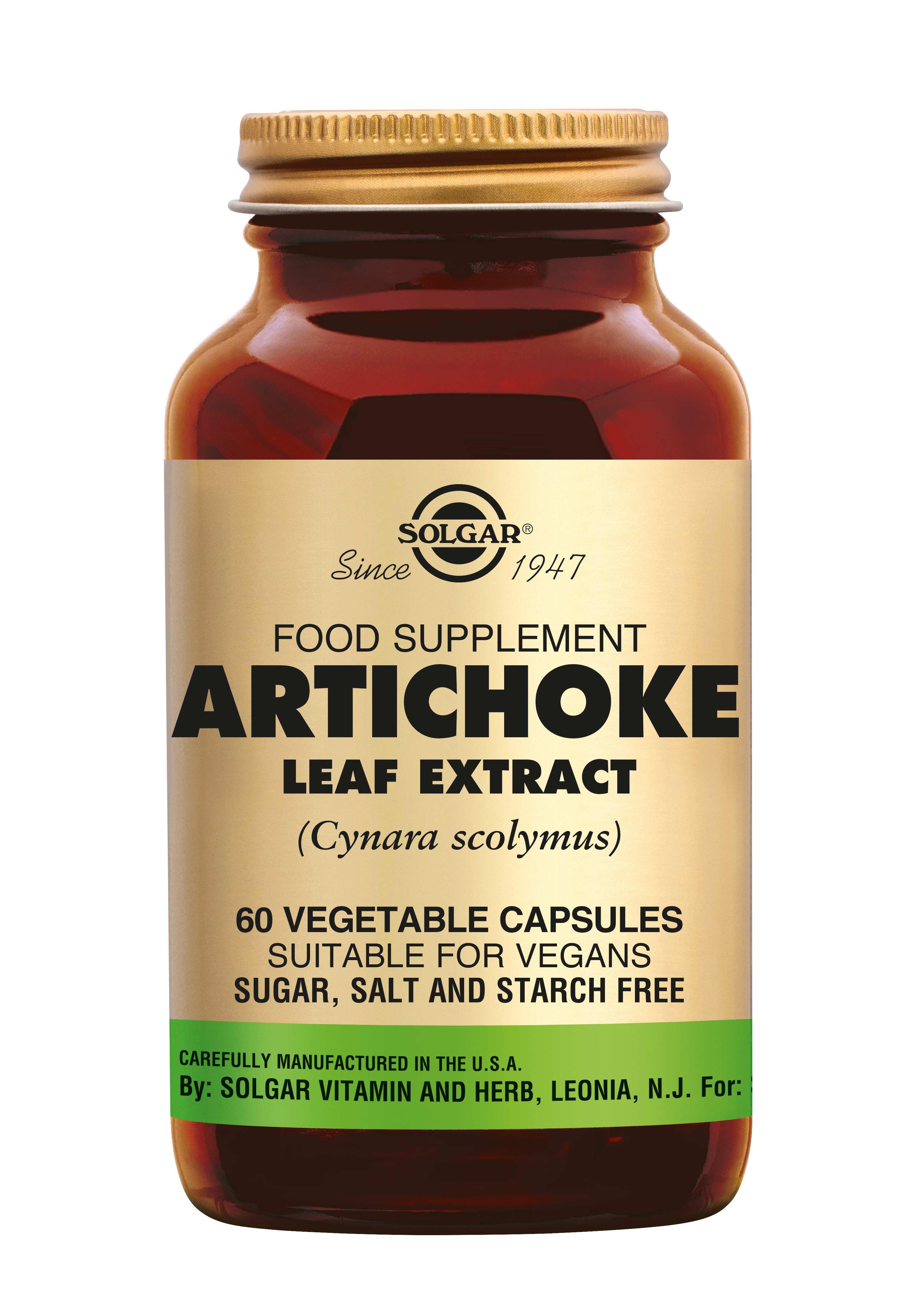 Artichoke Leaf Extract, Solgar, Solgar Artichoke Leaf Extract ondersteunt de werking van lever en gal. Artisjok bevordert de spijsvertering, werkt als prebioticum (voedingsbodem voor de darmflora) en helpt bij de verlaging van het cholesterol gehalte.