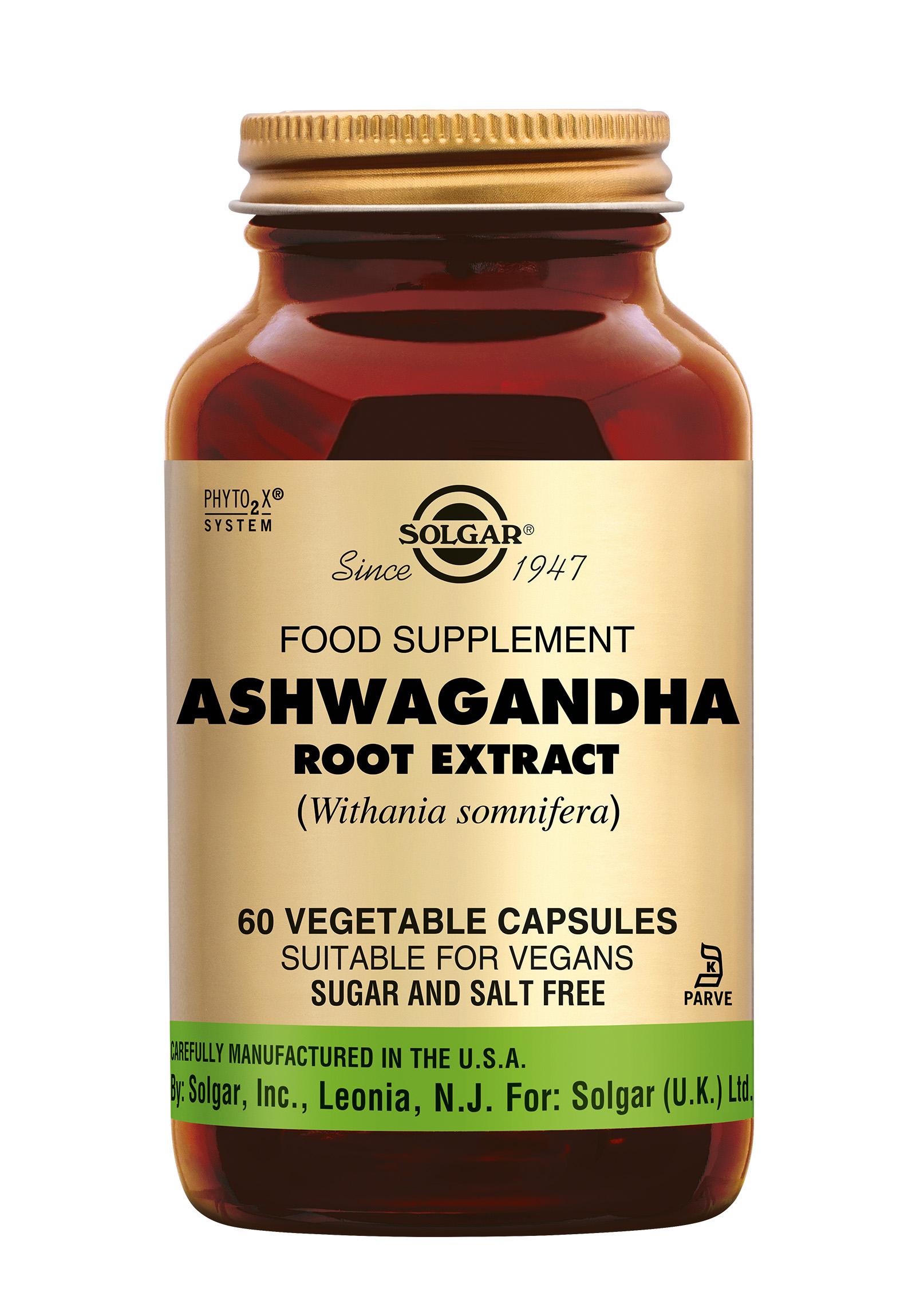 Ashwagandha Root Extract, Solgar, Solgar Ashwagandha Root Extract (Withania somnifera) is een adaptogeen en ondersteunt de geestelijke en lichamelijke energie.