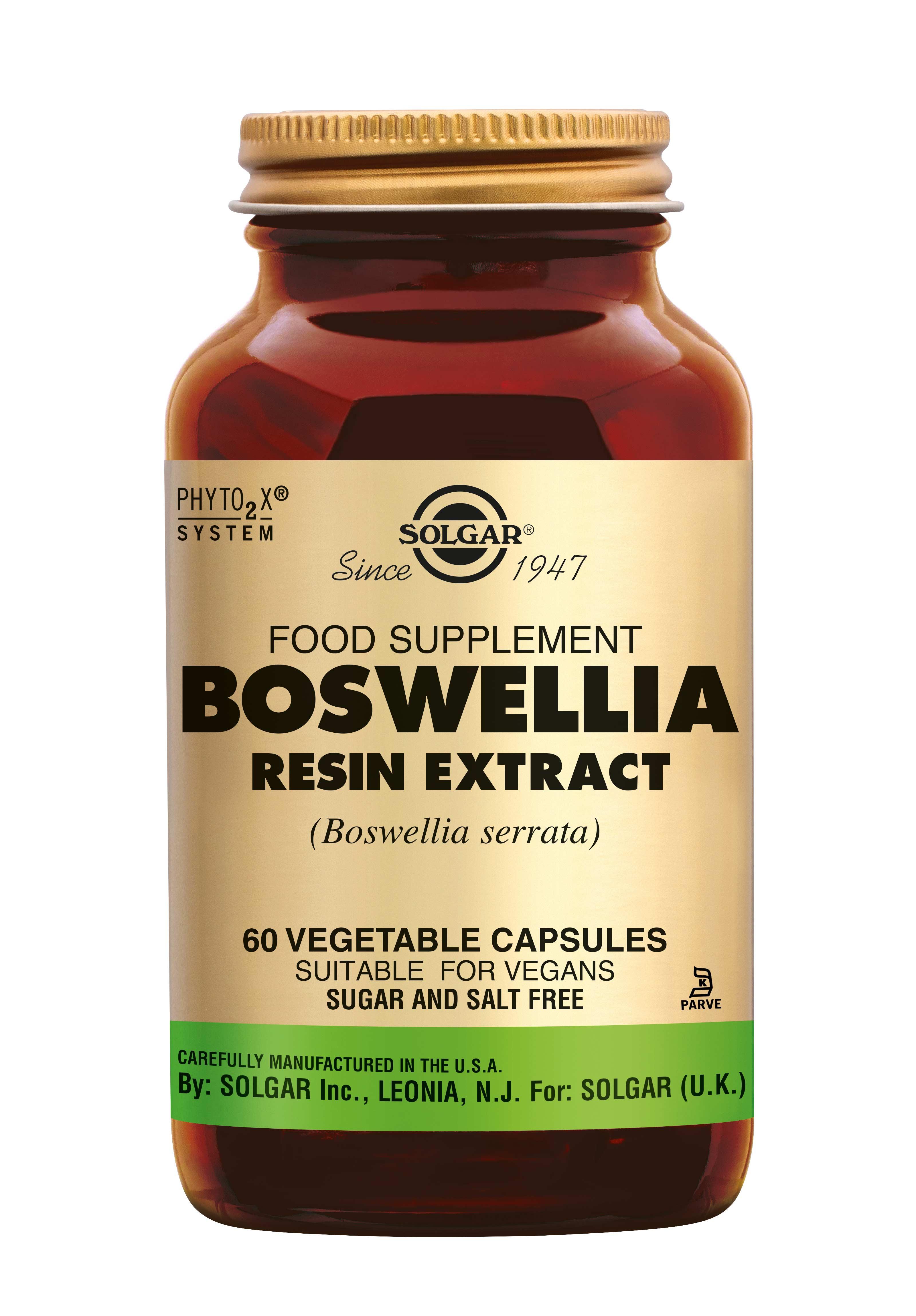 Boswellia Resin Extract, Solgar, Solgar Boswellia Resin Extract (Boswellia serrata) wordt ingezet voor behoud van soepele gewrichten.